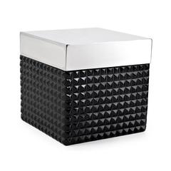 Косметическая емкость с крышкой Kassatex Parc East Bricks Black ATS-CJ-BK