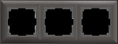 Рамка на 3 поста (серо-коричневый) WL14-Frame-03 Werkel