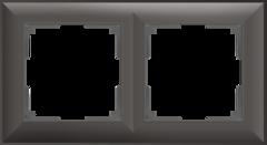Рамка на 2 поста (серо-коричневый) WL14-Frame-02 Werkel