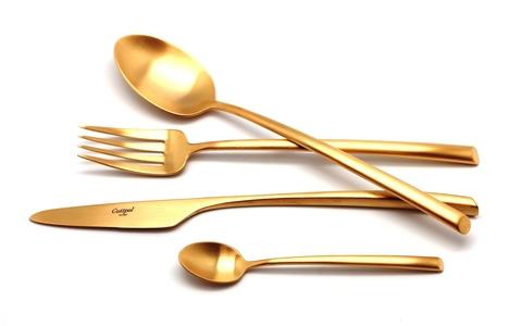 Набор столовых приборов (72 предмета / 12 персон) Cutipol MEZZO GOLD 9302-72