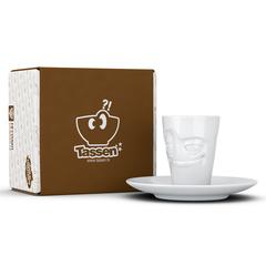 Кофейная чашка с блюдцем Tassen Impish 80 мл белая T02.11.01