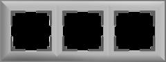 Рамка на 3 поста (серебряный) WL14-Frame-03 Werkel