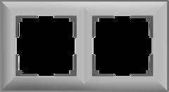 Рамка на 2 поста (серебряный) WL14-Frame-02 Werkel