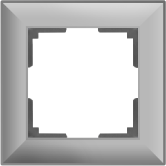 Рамка на 1 пост (серебряный) WL14-Frame-01 Werkel
