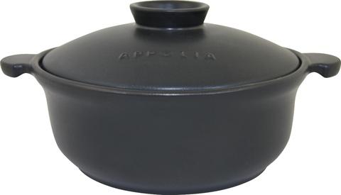 Кастрюля круглая 32,5х26,4 (3,1л) Appolia Terry&Flamme MATE BLACK LID 500031001