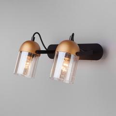 Настенный светильник с поворотными плафонами Eurosvet Mars 20122/2 черный/золото