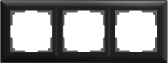 Рамка на 3 поста (черный матовый) WL14-Frame-03 Werkel