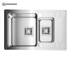 Кухонная мойка из нержавеющей стали OMOIKIRI Mizu 78-2-L (4993012)