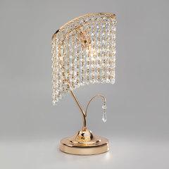 Настольная лампа с хрусталем Eurosvet Katria 3122/1 золото Strotskis  настольная лампа
