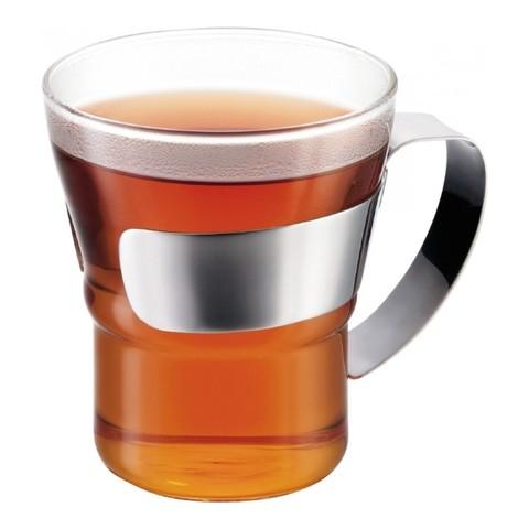 Набор кружек кофейных Bodum Assam 0,3 л. 2 шт. хром