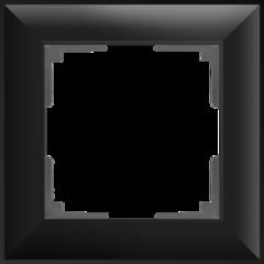 Рамка на 1 пост (черный матовый) WL14-Frame-01 Werkel