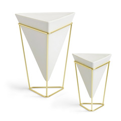 Декор настольный Trigg белый-латунь Umbra 1004372-524