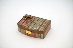 Шкатулка мини для украшений Jardin D'Ete, цвет бронзово-золотистый,