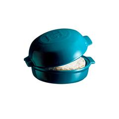 Форма для запекания 19,5х17,5х4,5 см Emile Henry с крышкой (цвет: лазурь) 608417