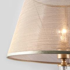 Классический торшер с абажуром Eurosvet Alcamo 01076/1 перламутровое золото