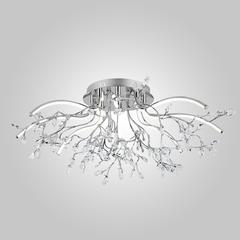 Светодиодная люстра с хрусталем Eurosvet Claudia 90036/8 хром