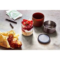 Ланч-бокс Glass Lunch Pot светло-коричневый 450 мл Black+Blum GR-LB-S014