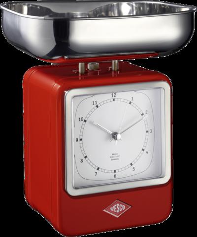 Весы с часами Wesco 322204-02