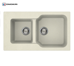 Кухонная мойка из искусственного гранита (Tetogranit) OMOIKIRI Maru 86-2-BE (4993285)