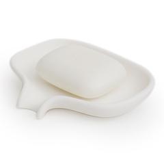 Мыльница с носиком для слива белая(малая) Bosign 263830