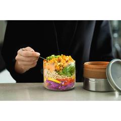 Ланч-бокс Glass Lunch Pot светло-коричневый 600 мл Black+Blum GR-LB-M014