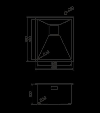Кухонная мойка из нержавеющей стали OMOIKIRI Taki-38-U (4993043)