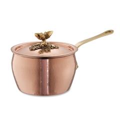 Ковш с крышкой 16см (2,3л), крышка с бронзовой декорированной ручкой, RUFFONI Historia decor арт. 3104-16B Ruffoni
