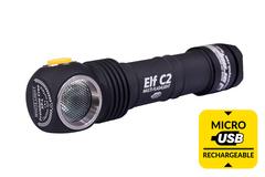 Мультифонарь светодиодный Armytek Elf C2 Micro-USB+18650, 980 лм, теплый свет, аккумулятор* F05101SW