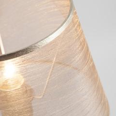 Настольная лампа с абажуром Eurosvet Alcamo 01075/1 перламутровое золото