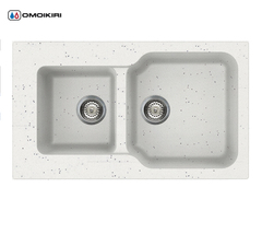 Кухонная мойка из искусственного гранита (Tetogranit) OMOIKIRI Maru 86-2-EV (4993290)