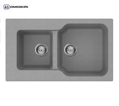 Кухонная мойка из искусственного гранита (Tetogranit) OMOIKIRI Maru 86-2-PL (4993289)