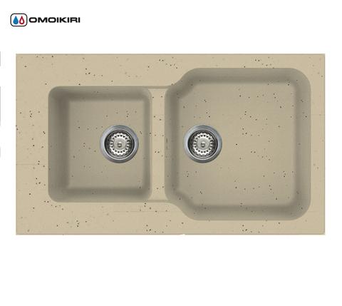 Кухонная мойка из искусственного гранита (Tetogranit) OMOIKIRI Maru 86-2-СH (4993291)