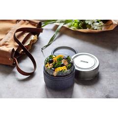 Ланч-бокс Glass Lunch Pot серый 600 мл Black+Blum GR-LB-M015