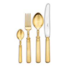 Набор столовых приборов (24 предмета / 6 персон) Cutipol LINE Matte Gold Brushed арт. L.006 GB