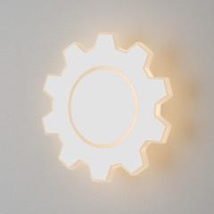 Gear M LED белый Настенный светодиодный светильник Elektrostandard Gear Gear M LED белый (MRL LED 1095)