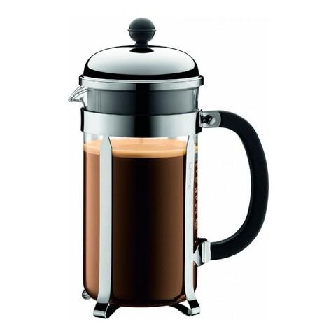 Кофейник френч-пресс Bodum Chambord 1 л. хром