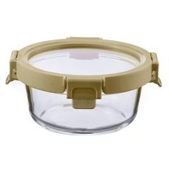 Контейнер для еды Smart Solutions стеклянный 400 мл светло-бежевый ID400RD_7534C