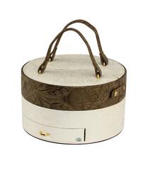 Шкатулка для украшений Jardin D'Ete, цвет бело-золотой, 20,8 х 20,8 х 20 см WG252