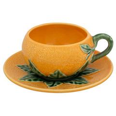 Чашка чайная с блюдцем Bordallo Pinheiro
