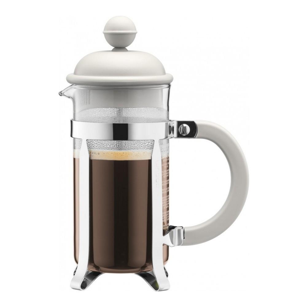 Кофейник френч-пресс Bodum Caffetiera 0,35 л. белый
