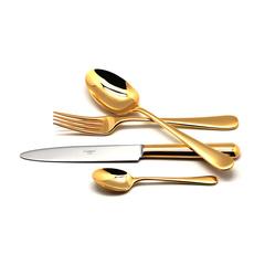 Набор столовых приборов (24 предмета / 6 персон) Cutipol ATLANTICO GOLD 9201