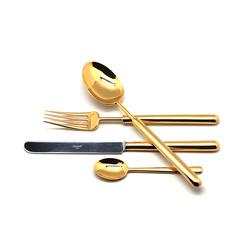 Набор столовых приборов (24 предмета / 6 персон) Cutipol BALI GOLD 9311