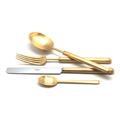 Набор столовых приборов (24 предмета / 6 персон) Cutipol BALI GOLD 9312