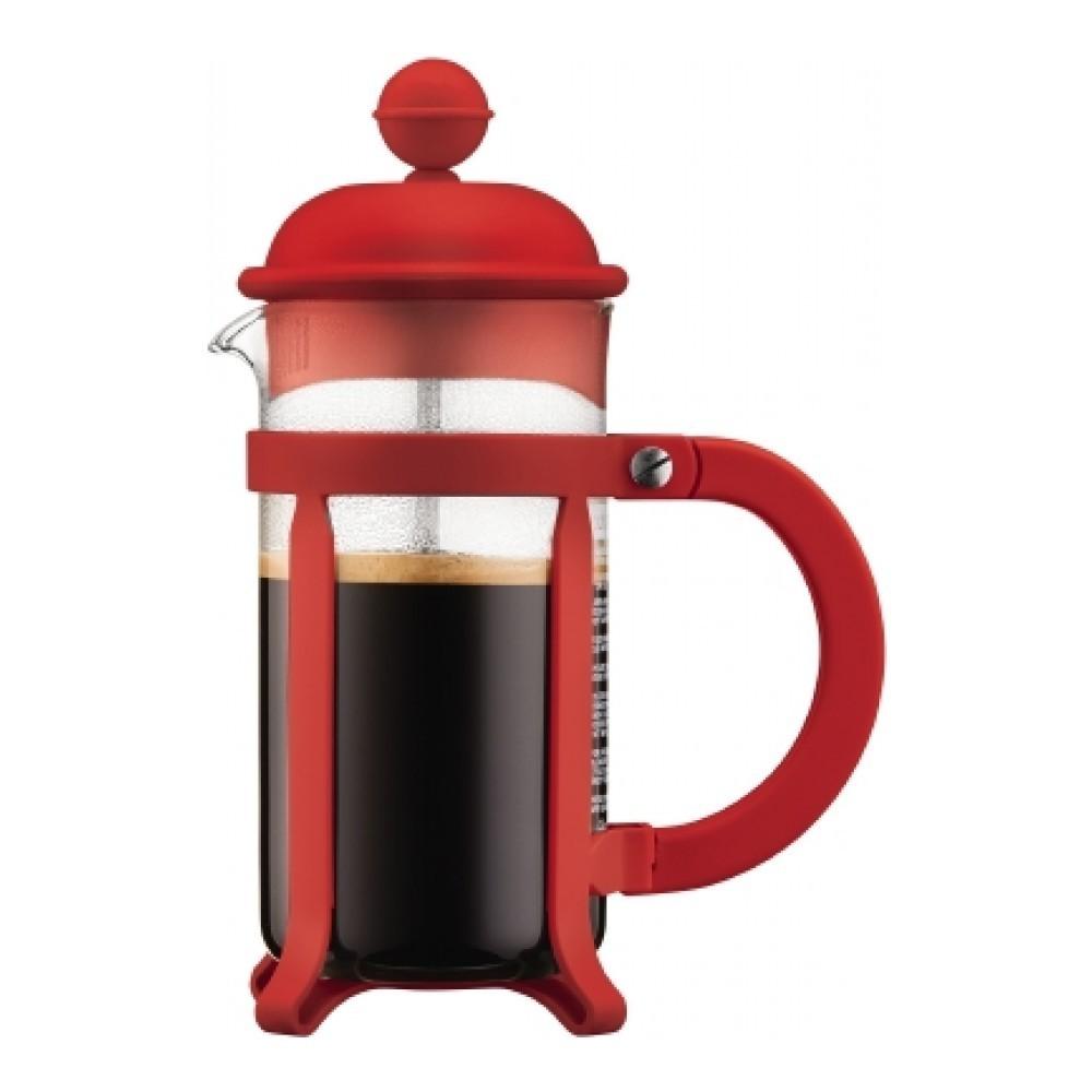 Кофейник френч-пресс Bodum Java 0,35 л. красный