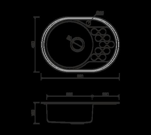 Кухонная мойка из нержавеющей стали OMOIKIRI Kasumigaura 65-1-AB-L (4993068)