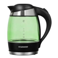 Чайник электрический Starwind (1,8 литра) 2200 Вт, LED подсветка, зеленый SKG2213
