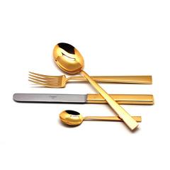 Набор столовых приборов (24 предмета / 6 персон) Cutipol BAUHAUS GOLD 9321