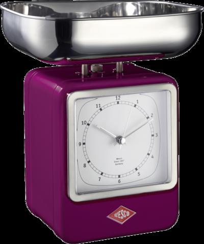 Весы с часами Wesco 322204-36
