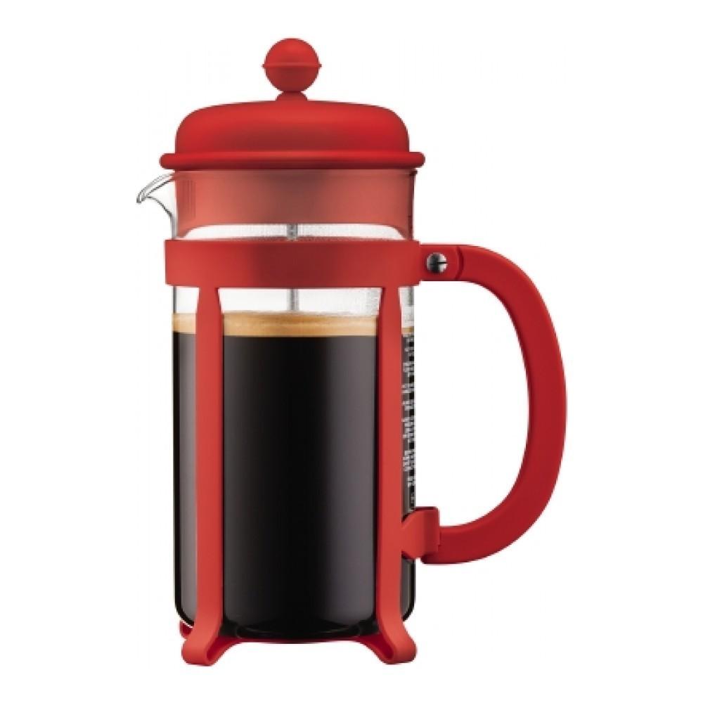 Кофейник френч-пресс Bodum Java 1 л. красный