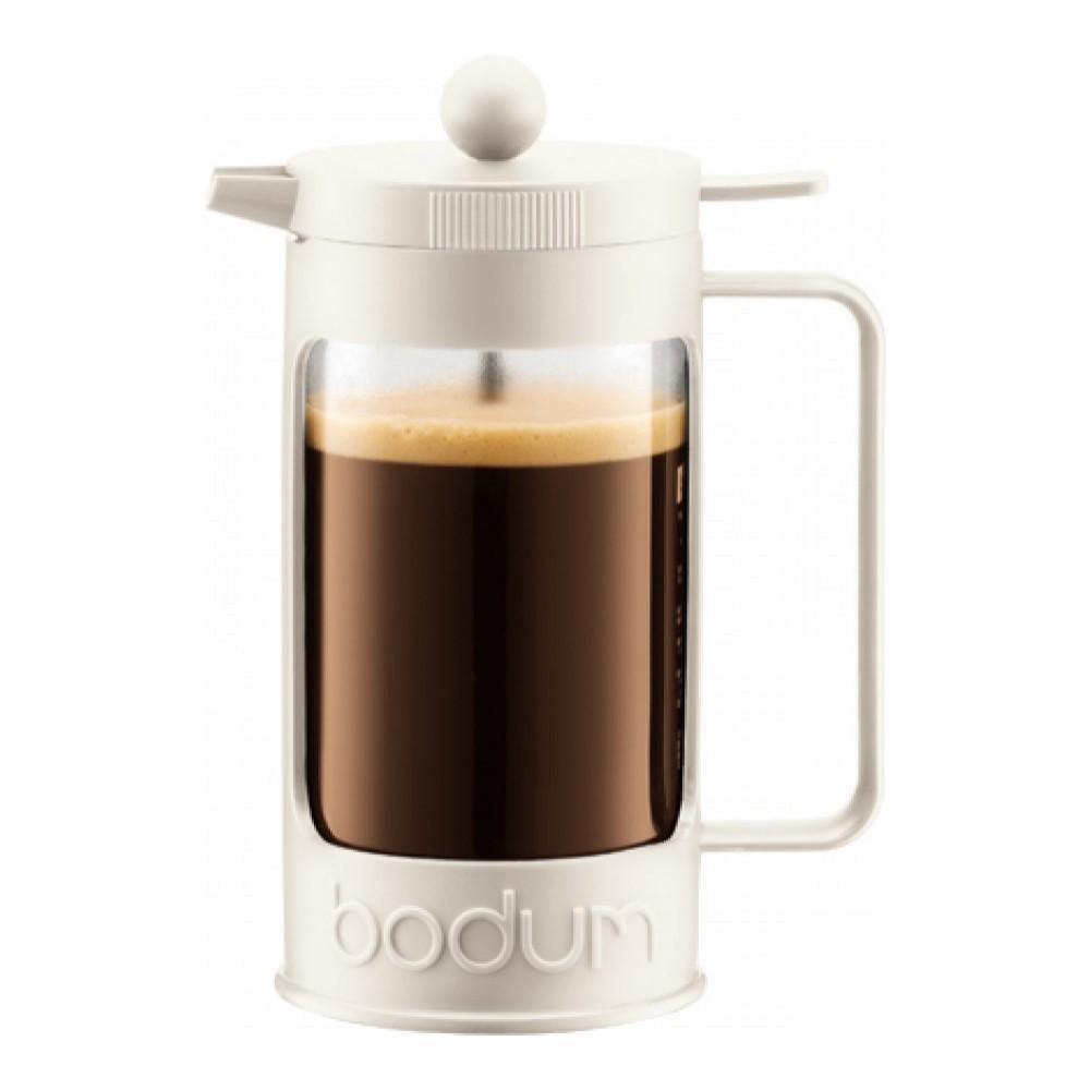 Кофейник френч-пресс Bodum Bean 1 л. белый
